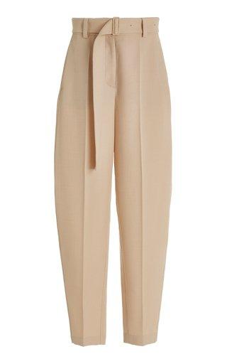 Taavi Belted Wool Twill Wide-Leg Pants