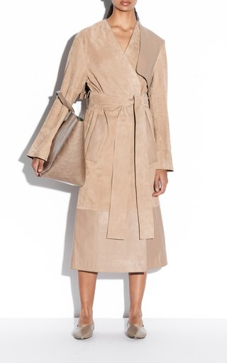 Cheyne Mixed Leather Coat