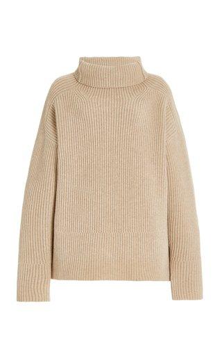 Merino Wool Knit Cowl-Neck Sweater