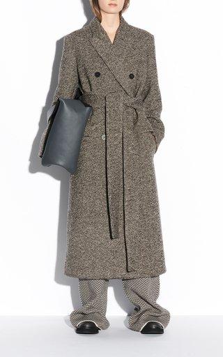 Colou Diagonal Virgin Wool-Blend Coat