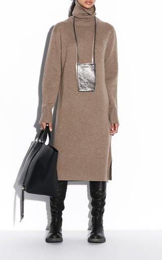 Cashmere Turtleneck Knit Dress