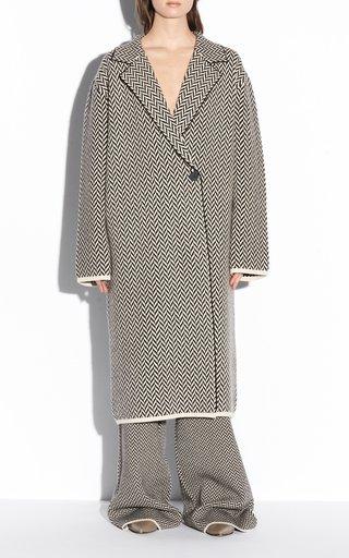 Herringbone Virgin-Wool Coat