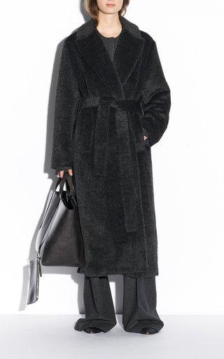 Cayla Textured Wool Alpaca Coat