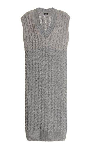 Sless Cable-Knit Wool Midi Dress