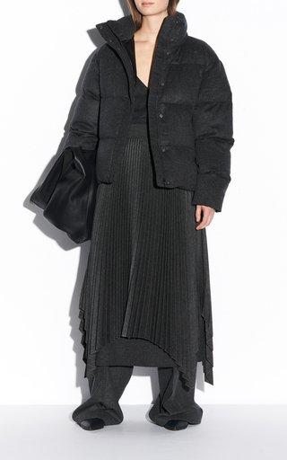 Carah Brushed Flannel Puffer Coat