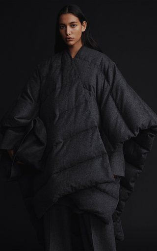 Wool-Cashmere Poncho Coat