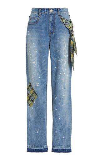 Jefferson Paint Splatter Boyfriend Jeans