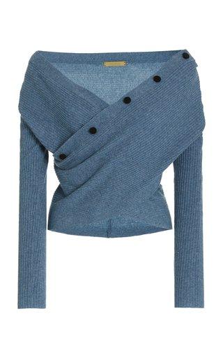 Davis Faux Wrap Sweater