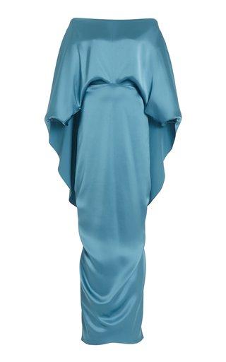 Berenice Silk Cape Dress