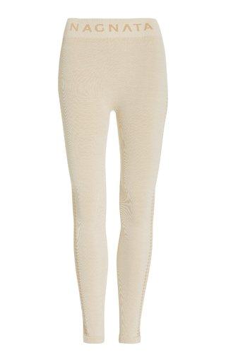 Laya Houndstooth Wool-Blend Leggings