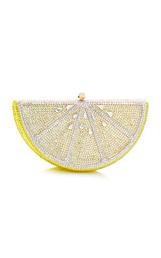 Lemon Slice Crystal Novelty Clutch