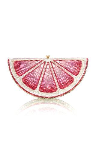 Pink Lemon Slice Crystal Novelty Clutch