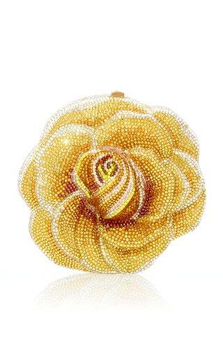 Sun Flare Crystal Rose Novelty Clutch