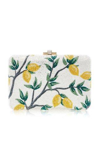 Lemon Tree Slim Slide Crystal Clutch