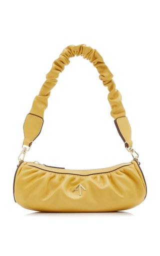 XX Mini Cylinder Ruched Leather Shoulder Bag