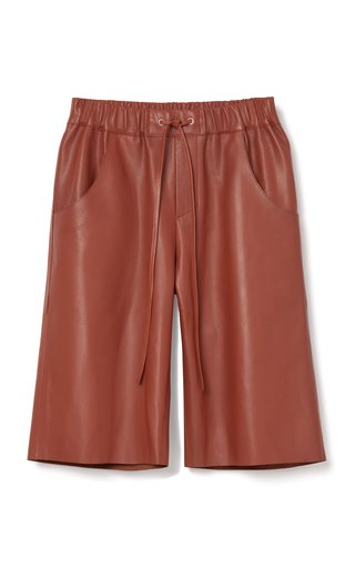 Patek Leather Bermuda Shorts