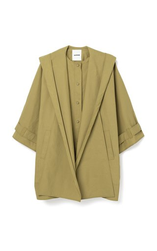 Kaura Hooded Cady Trench Coat