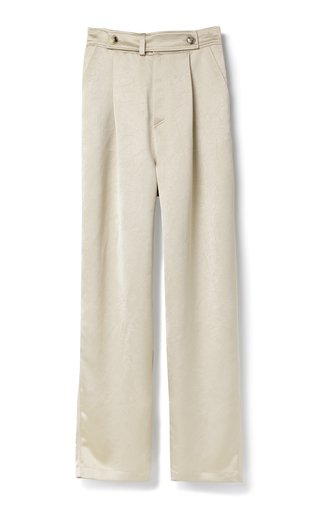 Odile Split Hem Satin Pants
