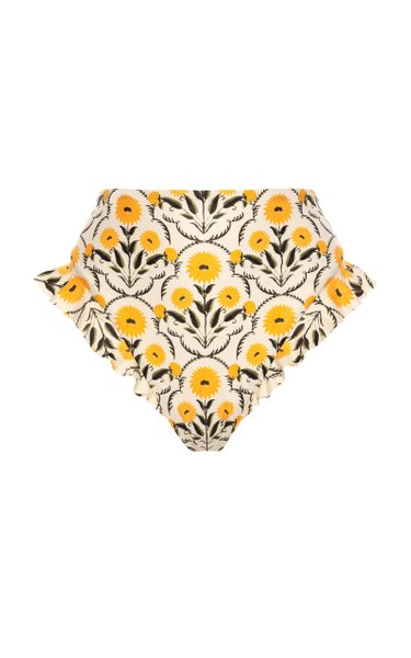 Jengibre Ruffled Floral Bikini Bottom