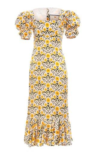 Mango Printed Silk Midi Dress