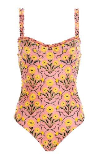 Manzana Embroidered One-Piece Swimsuit