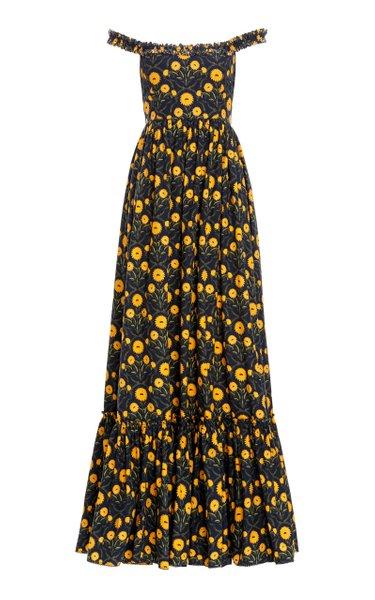 Achiote Cotton Poplin Maxi Dress