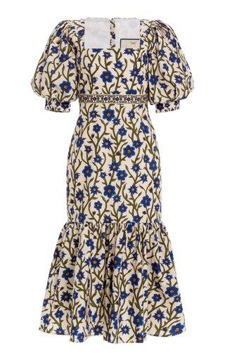 Zapote Embroidered Cotton Poplin Midi Dress