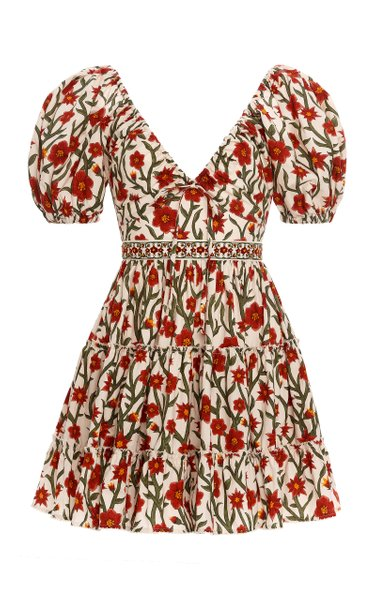 Manzanilla Floral Cotton Poplin Mini Dress