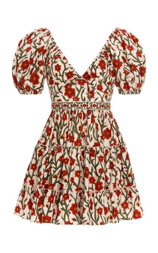 Manzanilla Floral Cotton Poplin Mini Dress