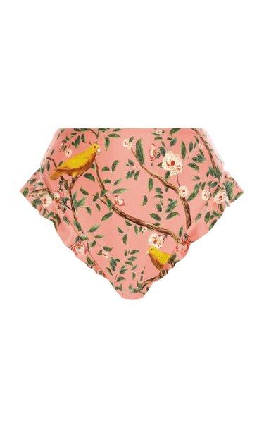 Jengibre Ruffled Printed Bikini Bottom