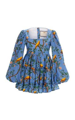 Avena Printed Cotton-Poplin Mini Dress