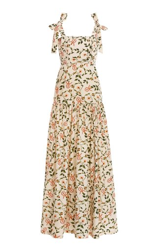 Mandarina Floral Cotton Poplin Maxi Dress