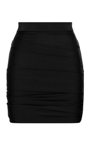 Rory Ruched Jersey Mini Skirt