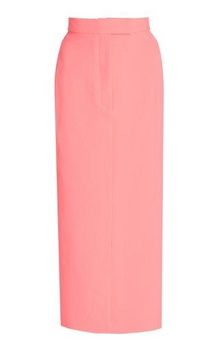 Delany Stretch Crepe Midi Skirt