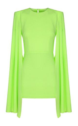 Tatum Satin-Creoe Caped Mini Dress
