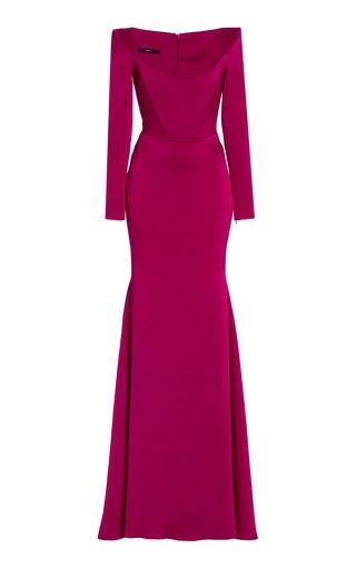 Brant Satin-Crepe Gown