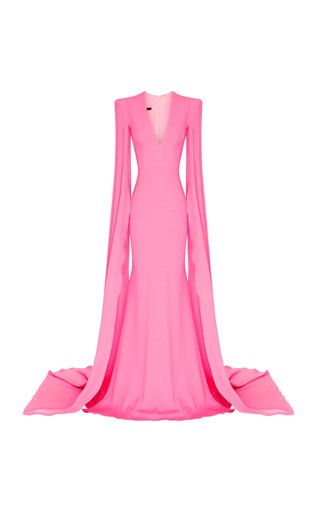 Kendall Satin-Crepe Gown