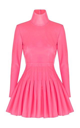 Miller Pleated Vinyl Mini Dress