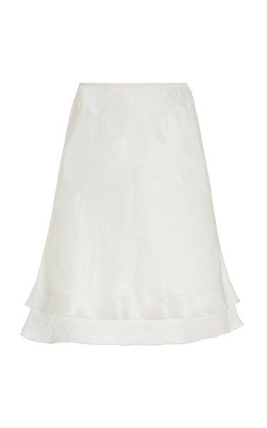 Masha A-Line Satin Midi Skirt