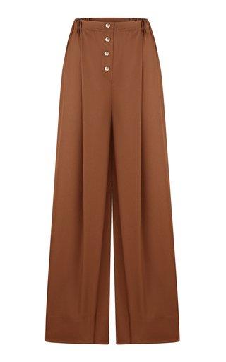 Yulia Wide-Leg Cotton Pants