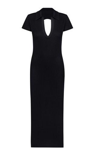 Ellina Open Back Ribbed Knit Dress