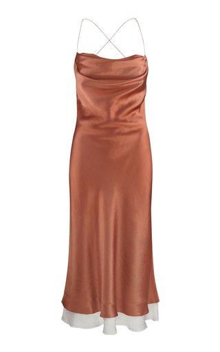 Dasha Low-Back Satin Slip Dress