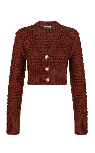 Marta Textured Cropped Knit Cardigan