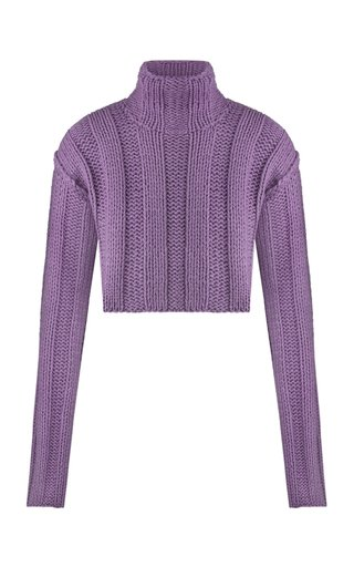 Ksena Cropped Cotton-Wool Top