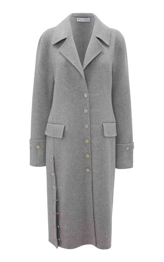 Oversized Button-Detailed Wool-Cashmere Coat