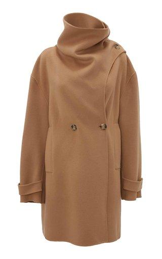 Oversized Wool Cowl-Neck Coat