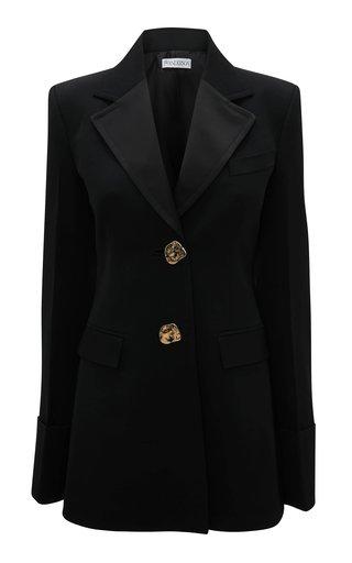 Button-Detailed Wool Blazer