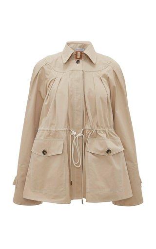 Pleated Cotton Twill Jacket