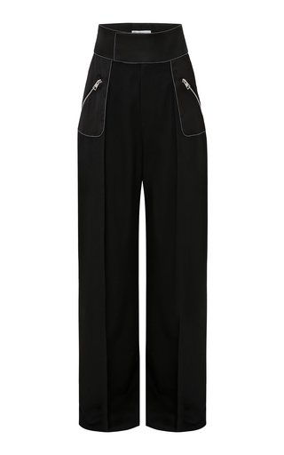 High-Rise Wool Wide-Leg Trousers