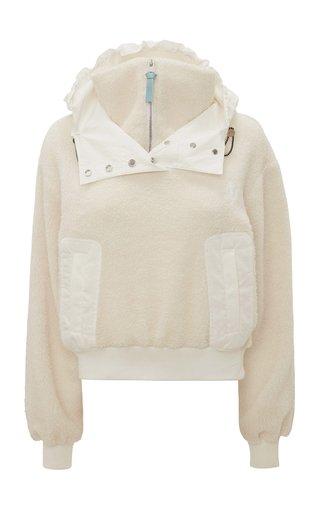 Half-Zip Hooded Sherpa Jacket